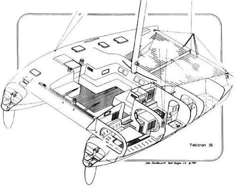 Catamaran Technical Drawing by Shuttle 35