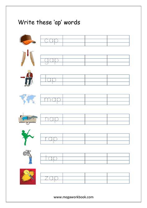 writing cvc words worksheets rhyming words word