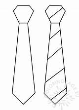 Tie Template Pdf Printable Coloring Father sketch template