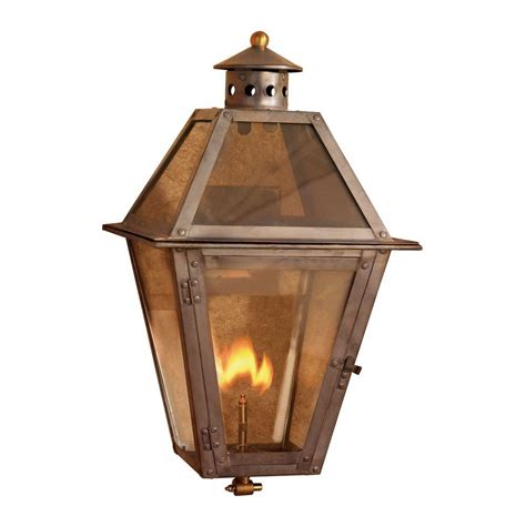 titan lighting grand isle 18 in outdoor washed pewter gas