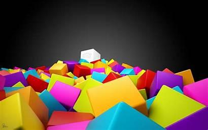 Colorful 3d Wallpapers Squares Colourful Backgrounds Desktop