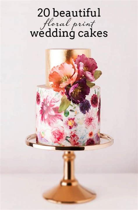 floral print wedding cakes weddbook