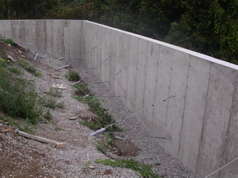 retaining concrete wall concrete retaining wall design and installation buchheit construciton