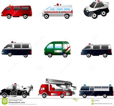 Vector Illustration Of Different Types Car Cartoon Vector