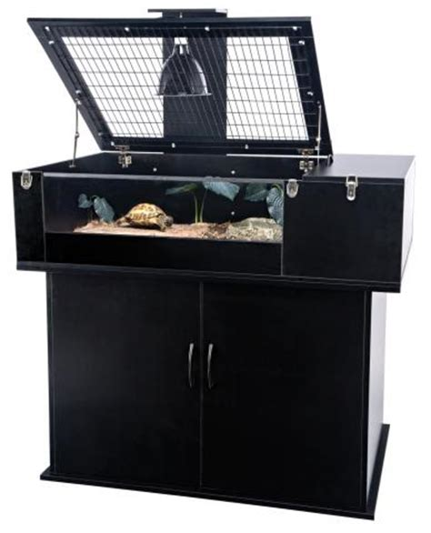 penn plax tortoise palace combo terrarium stand