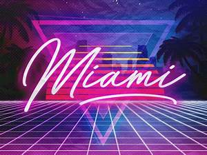 Miami Vice Neon Lights by Eduardo Kranjcec Dribbble