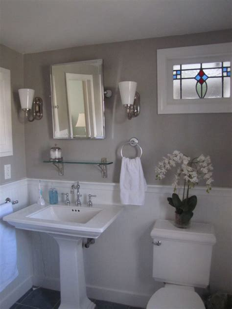 Bedford Gray  Favorite Paint Colors Blog. Children's Bathroom Ideas. Ultrasuede Sofa. Create Your Own House. Hartman Homes. Copper Accents. Mirror Vanity. Whitewash Cabinets. Mid Century Sofa