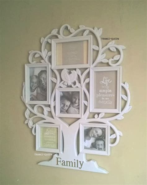 shabby chic family photo frame family tree bird 6 multi collage white photo frame new shabby chic ebay