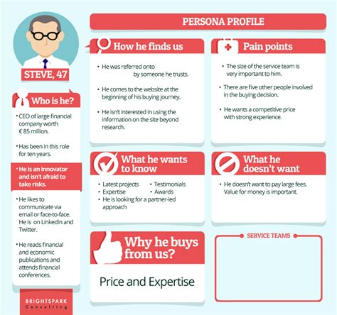 customer persona template four sle buyer personas and what we can learn from them mycustomer