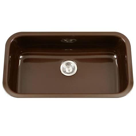 large kitchen sinks bowl houzer porcela series undermount porcelain enamel steel 31 in large single bowl kitchen sink in
