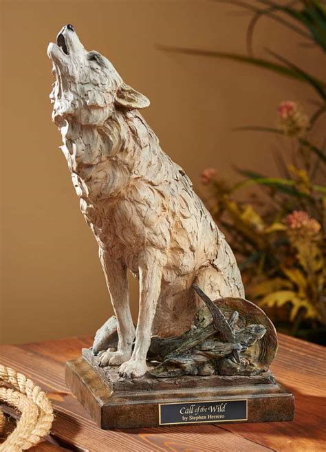 call   wild howling wolf sculpture wild wings