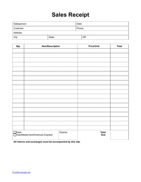 Itemized Template by Itemized Sales Receipt Template Pdf Rtf