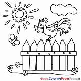 Fence Coloring Pages Children Sheet Farm Title sketch template