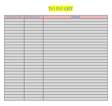 sample   list templates    sample