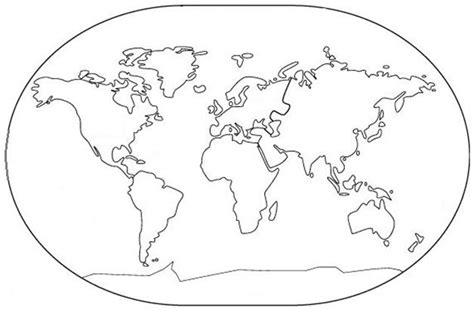 Mapa Mundi Dos Continentes Para Imprimir E Colorir 1