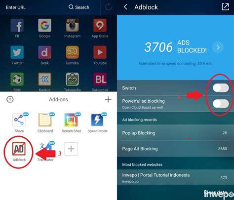 cara mematikan adblock di uc browser android pc