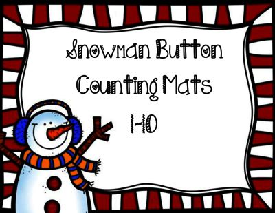 snowman button counting mats from perfectly preschool on 650 | ab5ffac888ce0338549c06b900f1af40