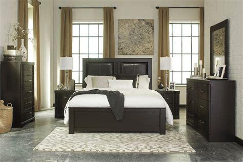 Tadlyn Contemporary Dark Brown Wood Glass Master Bedroom