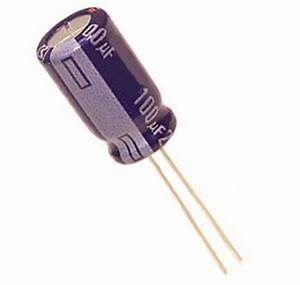 100uF 100V Radial Aluminum Electrolytic Capacitor ...