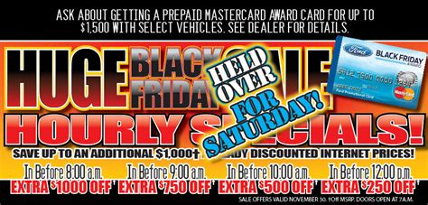 Black Friday Held Over for Saturday at Planet FordPlanet