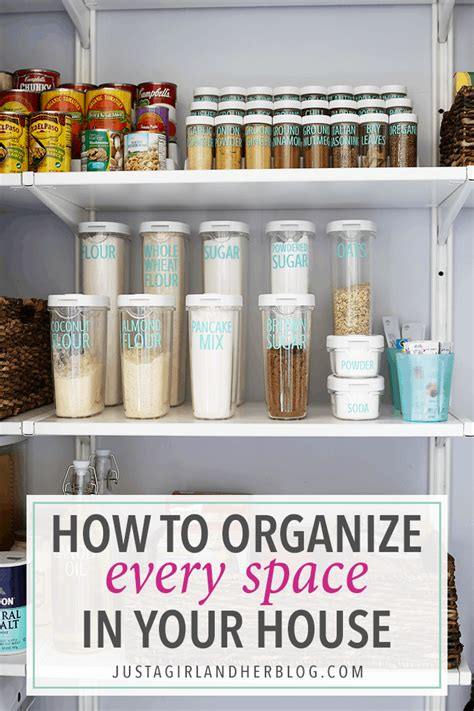 How To Organize Every Space In Your House  Just A Girl