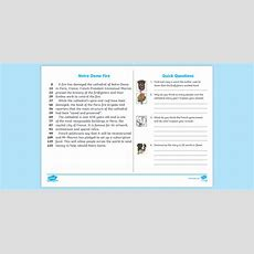 * New * Uks2 Notredame Fire Daily News 60second Read Activity Cards