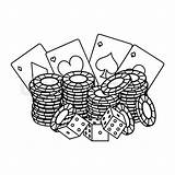 Poker Chips Drawing Cards Drawings Paintingvalley Card Dices sketch template