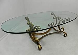 Table Basse Fer Forgé : la table basse ovale variantes modernes d 39 un meuble classique ~ Teatrodelosmanantiales.com Idées de Décoration