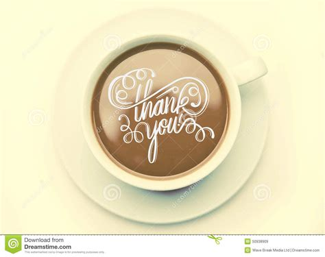 Thank You With Coffee Cup Vector Stock Vector Coffee News Belleville Price High Octane Menu Bar Vending Machine Grande Iced Starbucks South Jersey Harford
