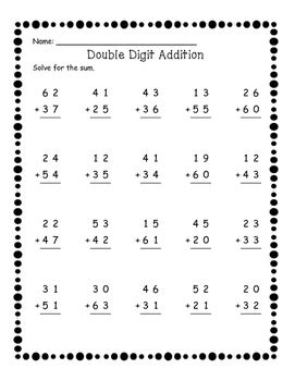 addition without regrouping worksheet for grade 1 digit addition without regrouping worksheets by