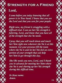 prayers for strength and comfort strength for a friend prayer a friend of jesus 2013