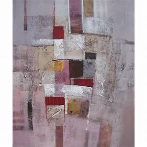 Tableau Rose Et Gris : tableau contemporain abstrait ton brun gris ros 120x100 cm suwitra ~ Teatrodelosmanantiales.com Idées de Décoration