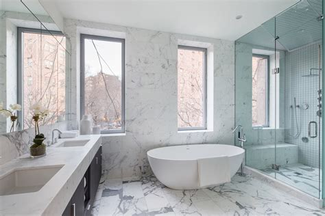nyc bathroom design grandeur and drama combined in a new york city modern townhouse