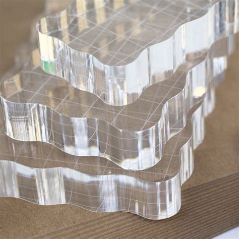 small perfect clear acrylic stamping block