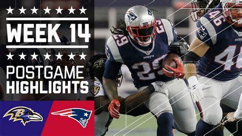 ravens  patriots nfl week  game highlights youtube
