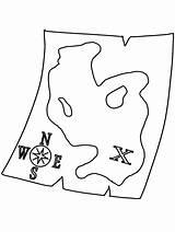Coloring Map Pirate Treasure Printable Clipart Chest Colouring Pirates Popular Coloringpagebook Dragon Ship Clip sketch template