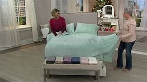 berkshire blanket velvet soft solid cozy sheet set on qvc With berkshire blanket velvet soft cozy sheet set