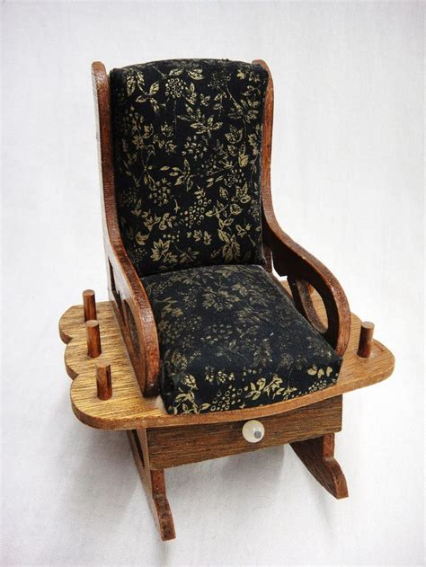 rocking chair vintage rocking chair pin cushions with drawer and spool