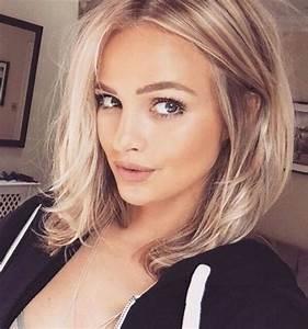 Blonde Mittellange Haare : die 25 besten ideen zu mittellange haare auf pinterest mittlere l ngen langhaarfrisuren und ~ Frokenaadalensverden.com Haus und Dekorationen
