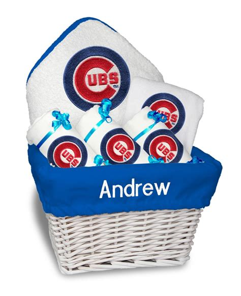 gifts for cubs fans personalized chicago cubs medium gift basket mlb baby gift