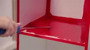 comment peindre un meuble avec un effet laque video With comment peindre un meuble laque
