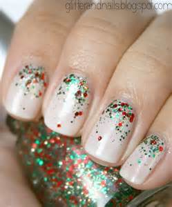 Christmas glitter nail art pictures to pin on