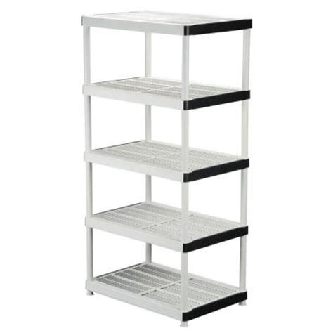 hdx 5 shelf 24 in d x 36 in w x 72 in h plastic