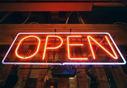 Open Neon Signs Sign Bar Lights Hour