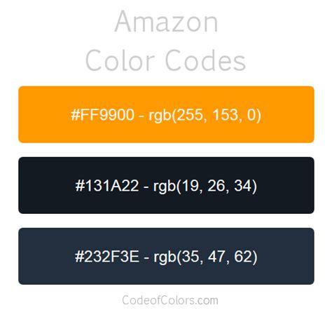 amazon colors hex  rgb color codes