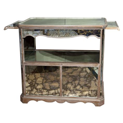 mirrored bar cabinet vintage mirrored quot bar quot cabinet at 1stdibs