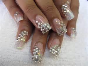 Glitter powder rhinestone nail design yelp