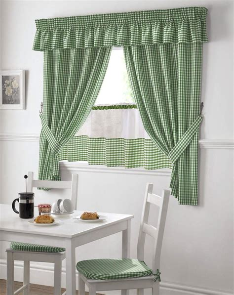 green and white kitchen curtains green and white gingham kitchen curtains pelmet 24 cafe 6925