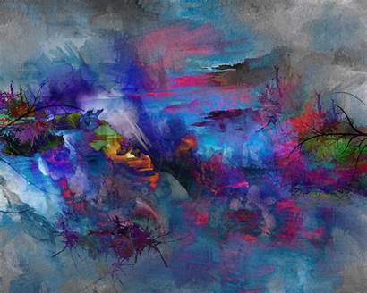 Abstract Painting Nature Desktop Background Backgrounds Wallpapers
