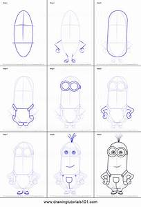 How to Draw Kevin from Minions printable step by step ...